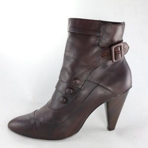BAKERS Denise Brown leather Ankle Boots